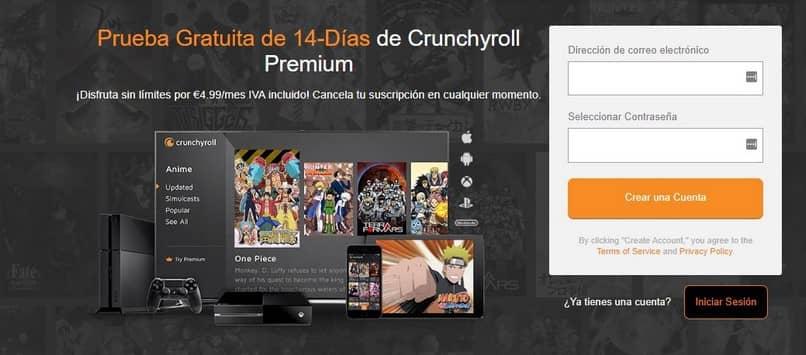 prueba crunchyroll gratuita