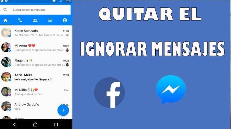 ignora el mensaje en facebook