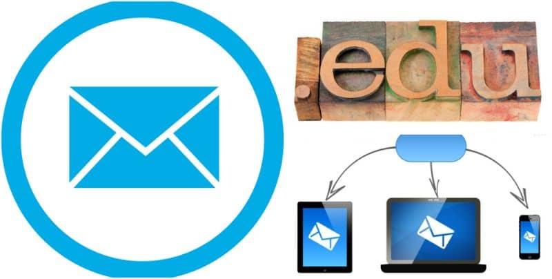 correo electrónico educativo fondo blanco