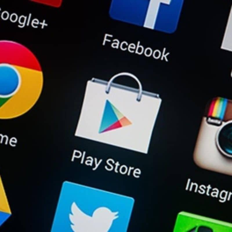 App Play Store en un teléfono Android