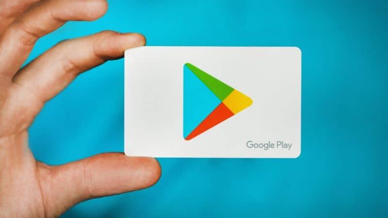 Logotipo de Play Store disponible Fondo verde