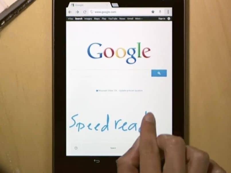 tableta de escritura a mano