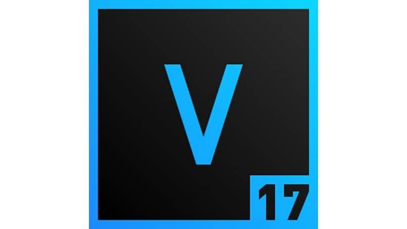 Letra V azul negro número 17