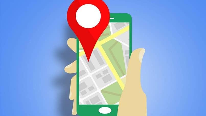 mapas de google con punto rojo