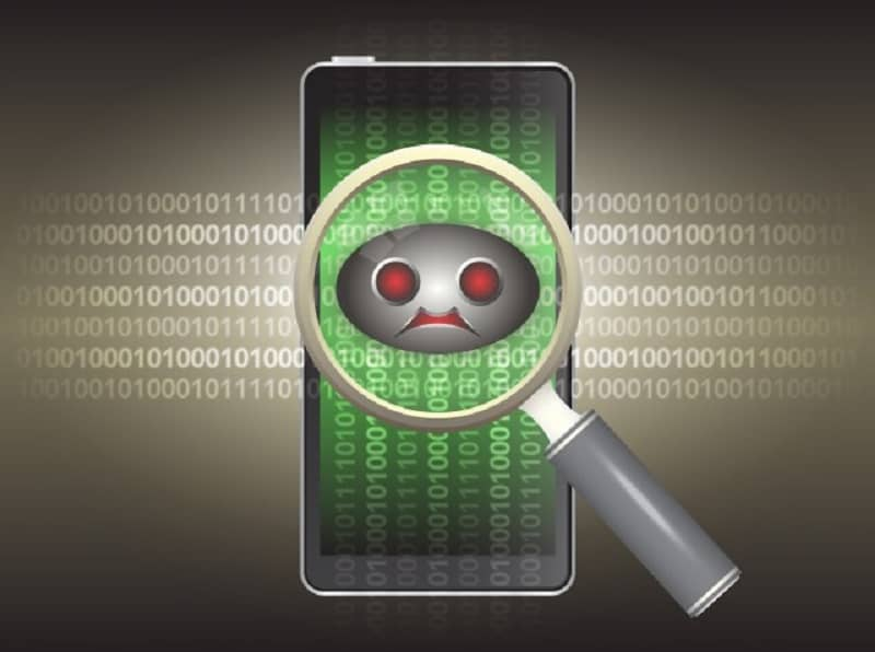 encontrar un teléfono con virus