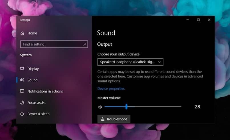 configurar ventanas de audio
