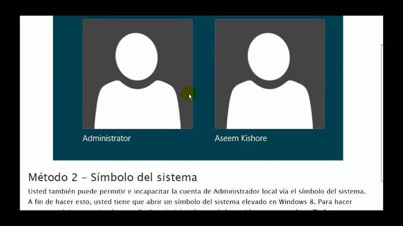 conexión de administrador