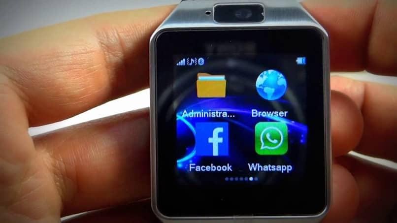 configuración de la aplicación de reloj inteligente