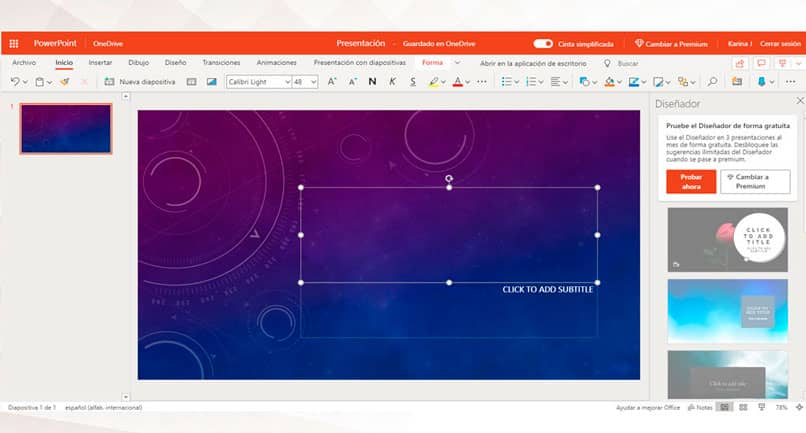 Abra PowerPoint en línea en su cuenta de Microsoft