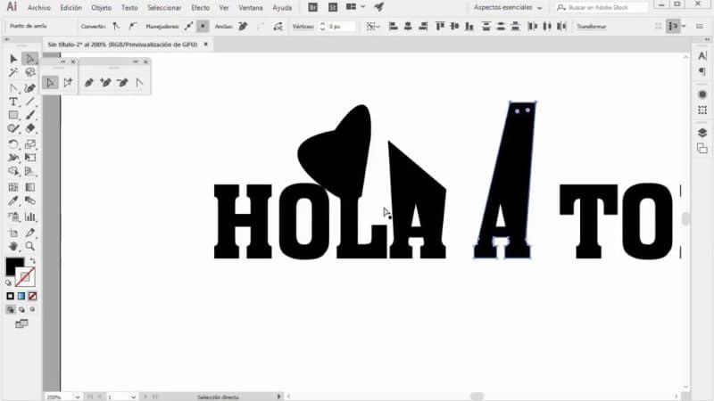 vector en photoshop hola con fondo blanco