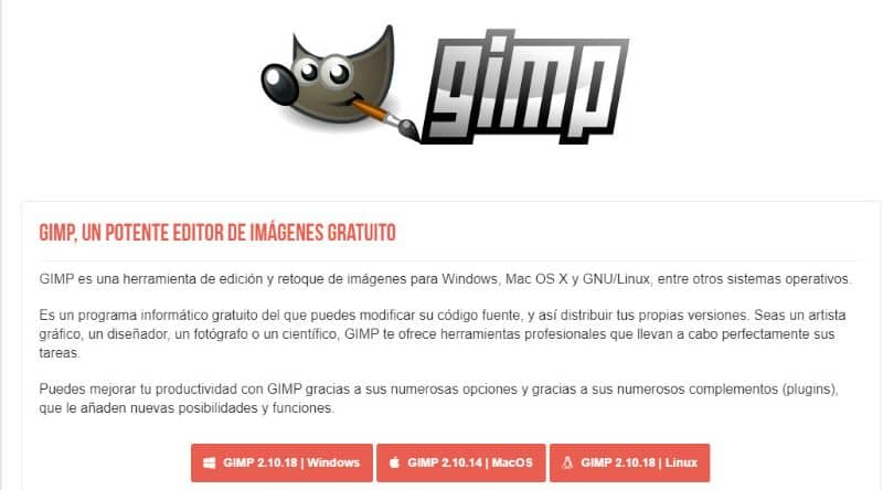 Descarga Gimp