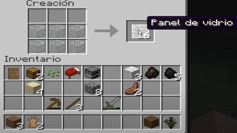 cómo crear un panel de vidrio en Minecraft