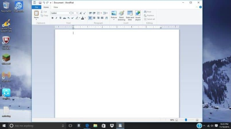 documento de wordpad