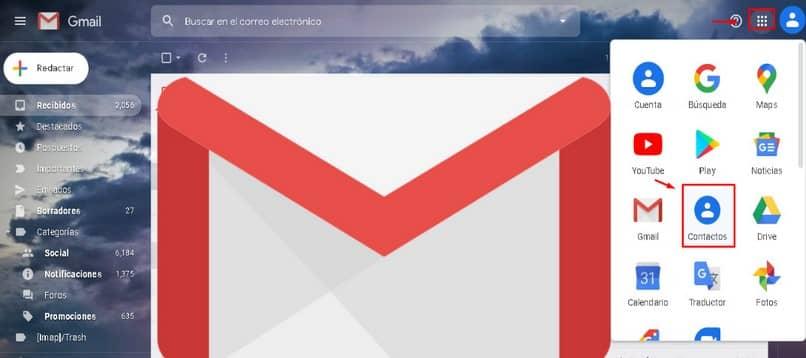 Opciones de Gmail para PC