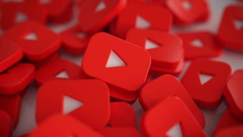 iconos rojos de youtube
