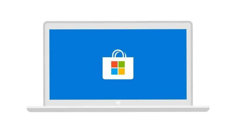 Guarde el fondo azul en una computadora portátil