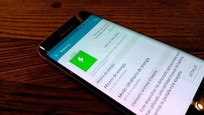 Batería del teléfono celular Android