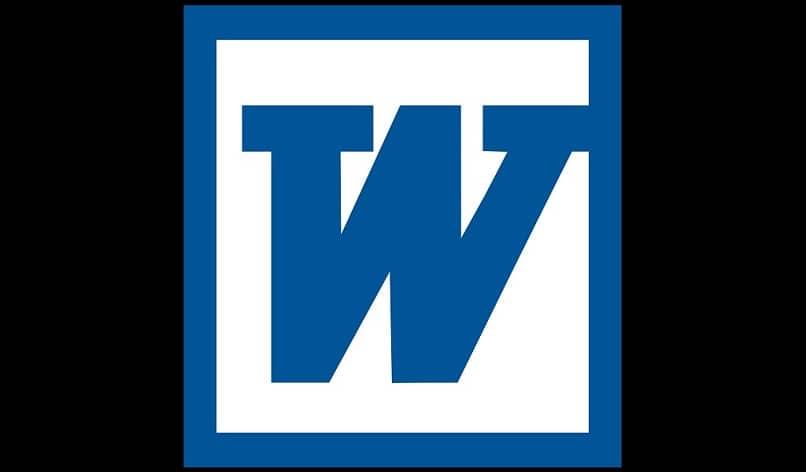 icono de palabra azul