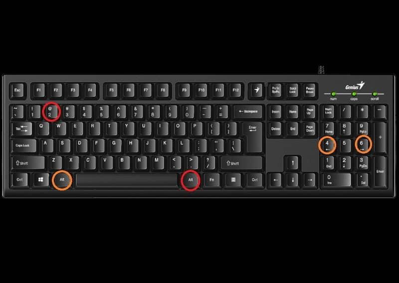 Crear en el teclado