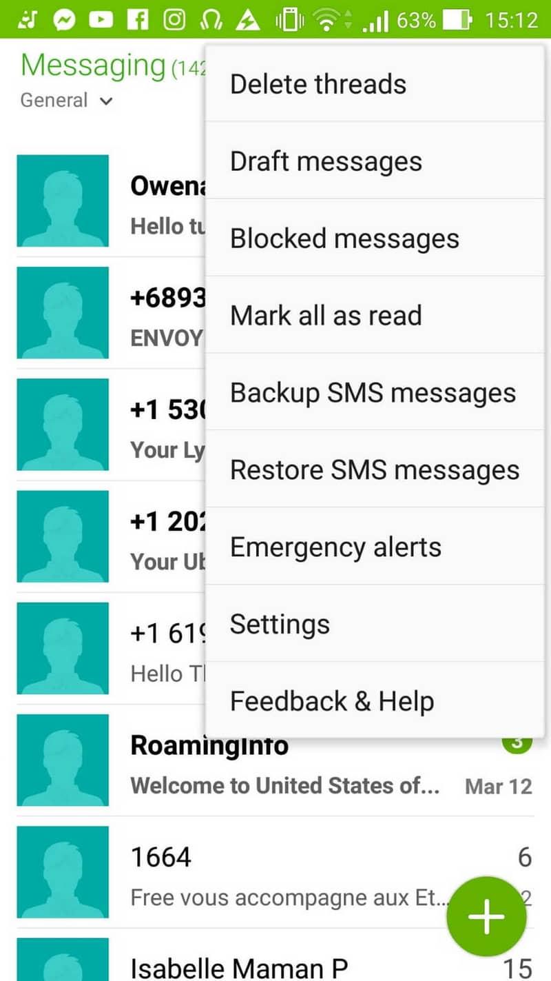mensajes móviles