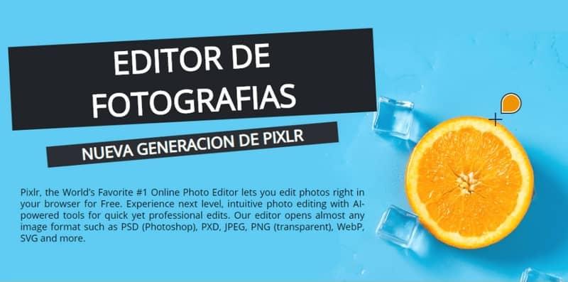 edición de fotos con PIXLR, naranja