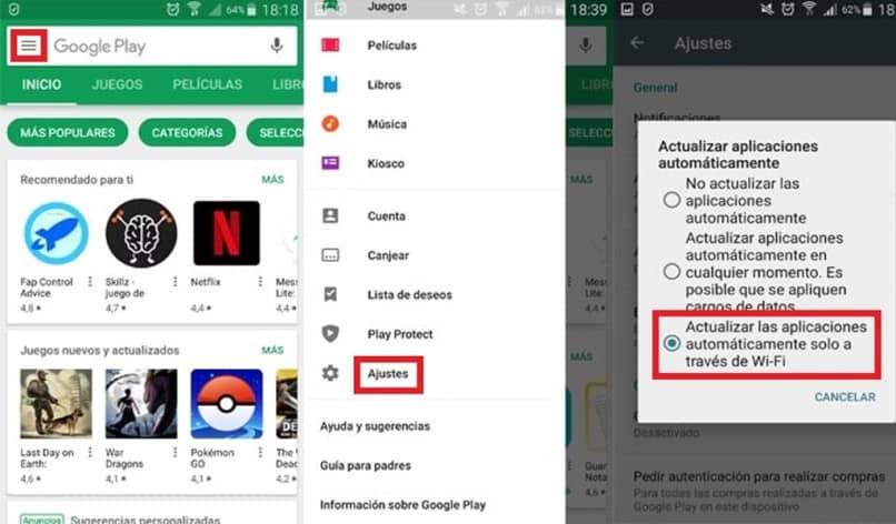 Configurar una cuenta de Play Store