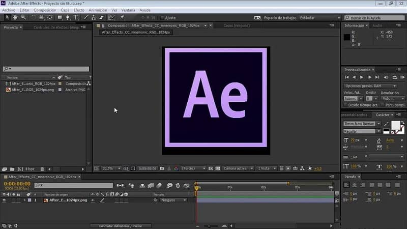 Editor de After Effects