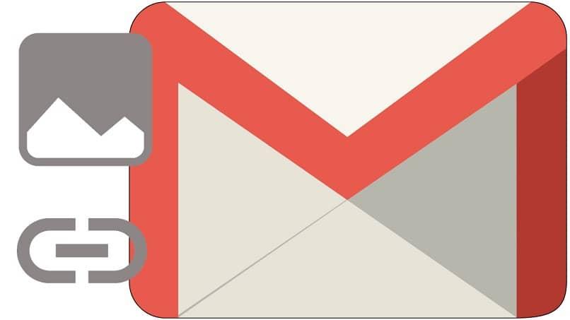 hipervínculos a imágenes de un correo electrónico en Gmail