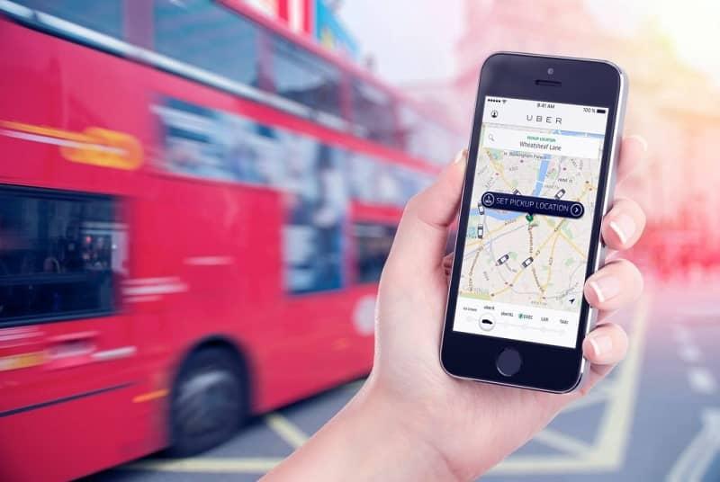 aplicación de viaje uber