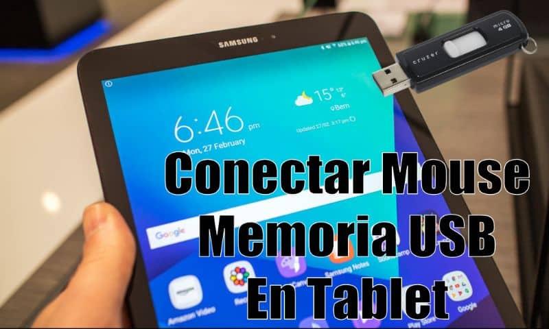 Conecte el mouse de la memoria USB a la tableta