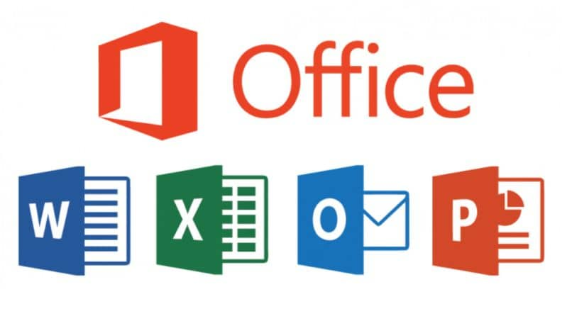 oficina excel word outlook power point logo