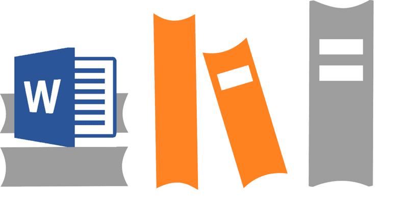libros, palabra, ilustración