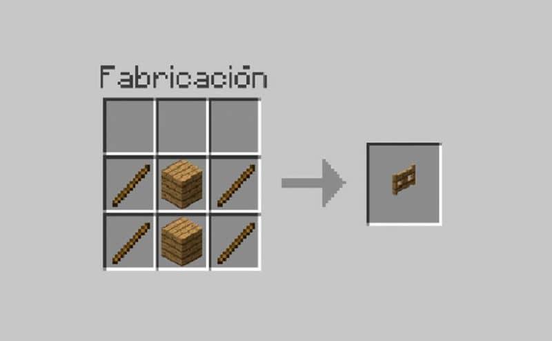 ventana cómo construir vallas y puertas en minecraft