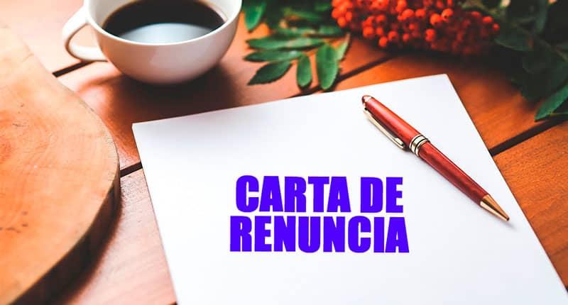 Escribe una carta de renuncia