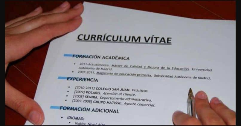CV impreso