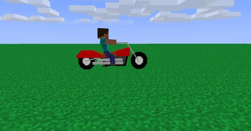 motocicleta en el videojuego de minecraft
