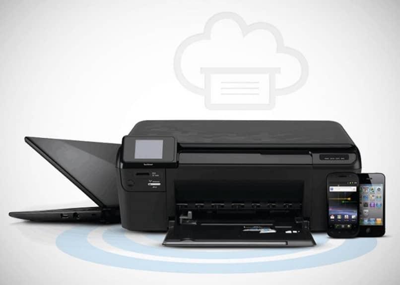 impresora portátil negra
