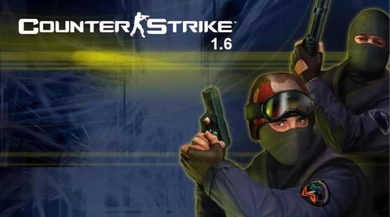 Counter Strike arma máscara gafas fondo oscuro