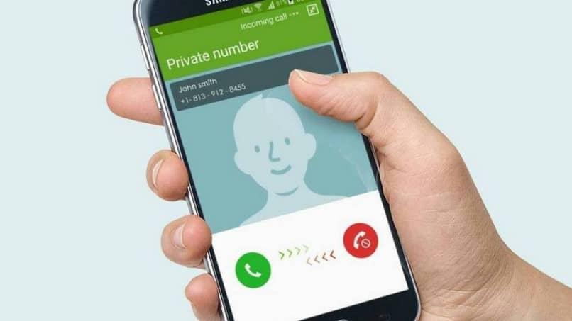 marcación de número privado