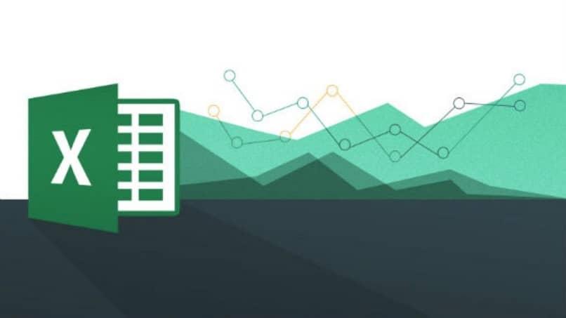 Excel logo sobre fondo blanco y verde
