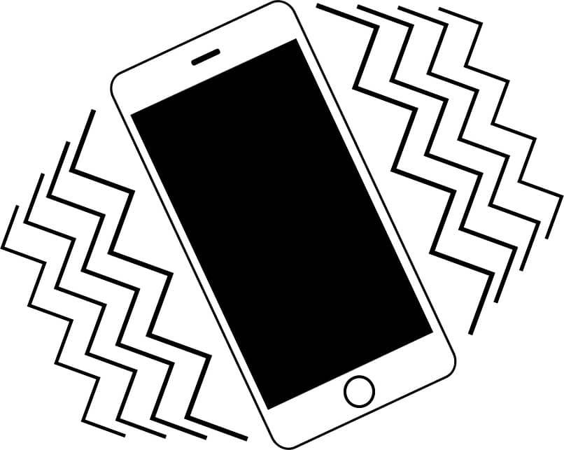 función de vibración de teléfono inteligente