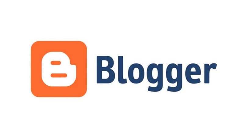 logotipo de blogger sobre fondo blanco