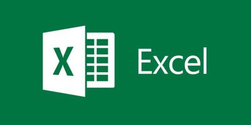 Excel logo color blanco con fondo verde