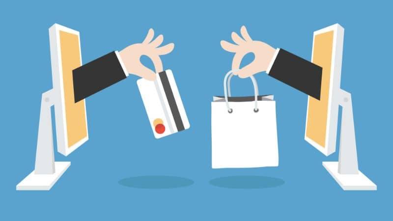 Vectores de compras por internet