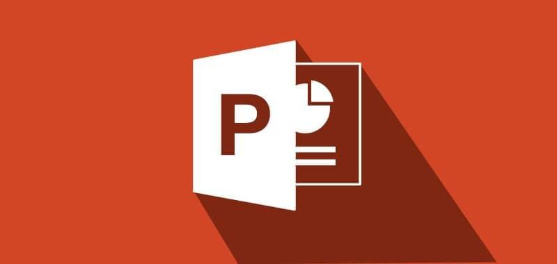 Power Point logo fondo rojo
