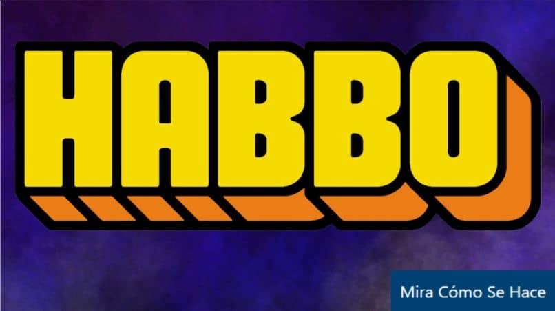 fondo azul del logotipo de habbo