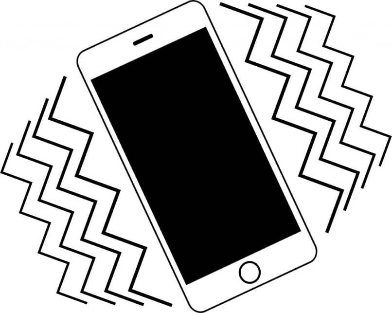 El logo de un teléfono móvil vibrante