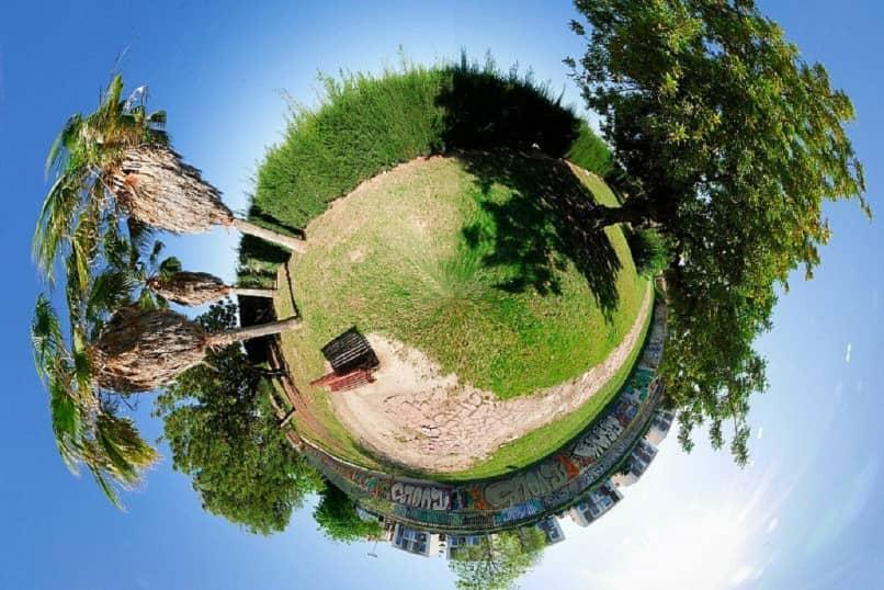 Foto con efecto ojo de pez o 360º