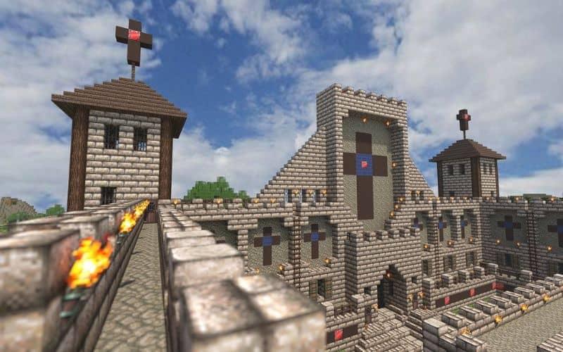 Castillo en Minecraft