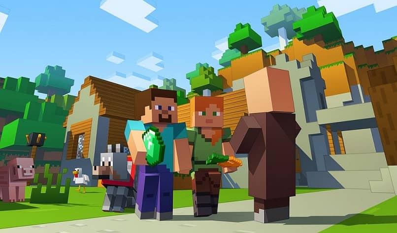 personajes de minecraft y una ágata